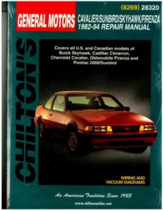 1985 pontic sunbird owners manual