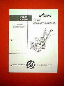 ariens st5 2 owners manual