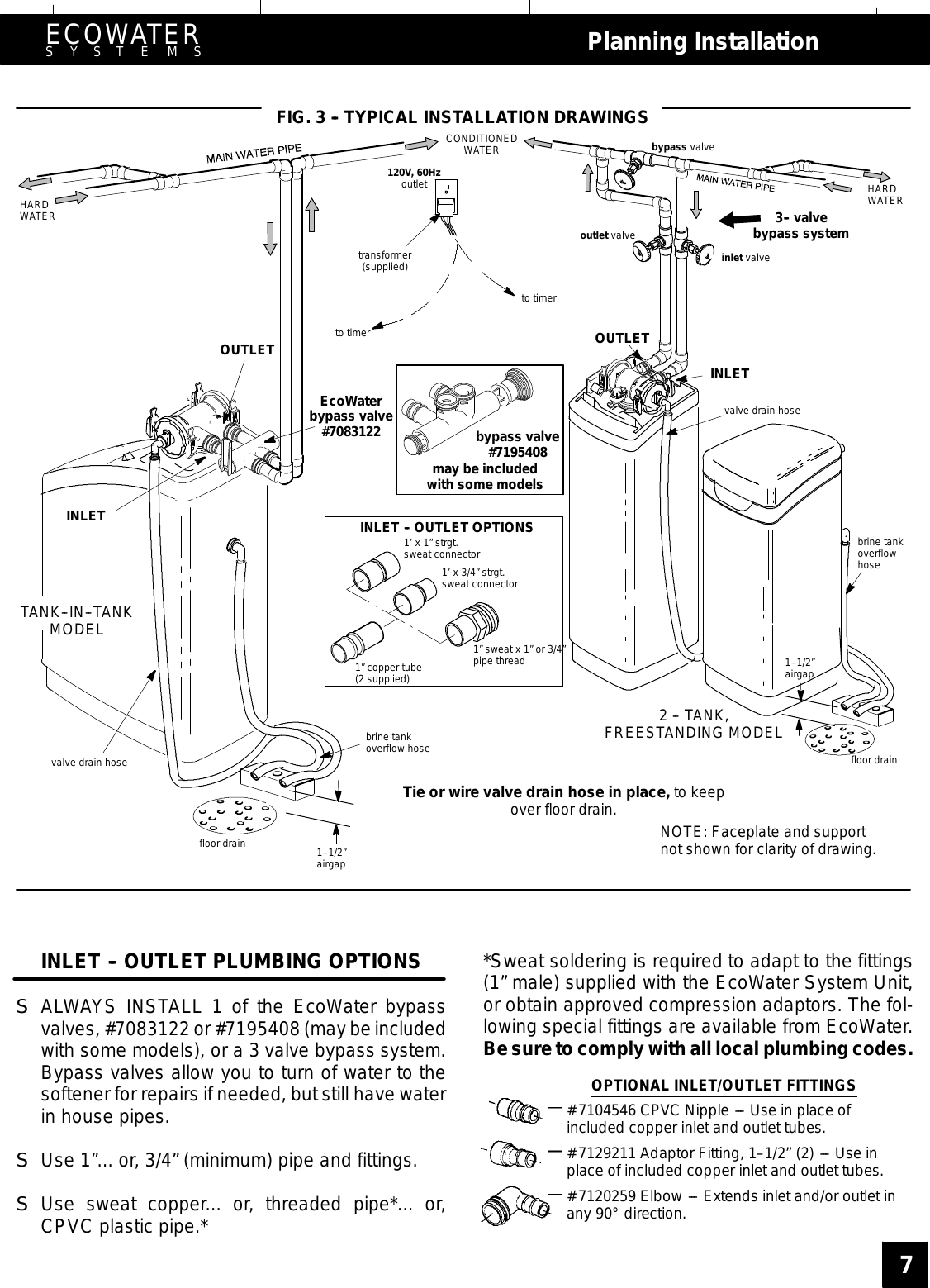 commers water softener user manual